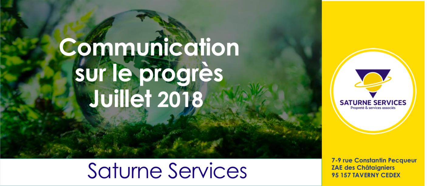 RSE : Notre Communication sur le Progrès 2018